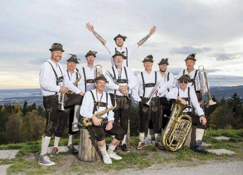 GOD STEMNING: Oslo Blaaseorkester holder utekonsert på Christians kjeller lørdag 10. mars.