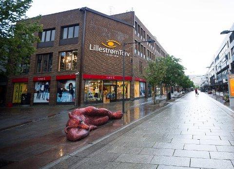 TØFFE TIDER: Lillestrøm Torv har merket korona-krisen godt.