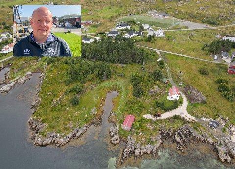 Lofotr Bygg & anlegg, her ved Reidar Samuelsen (innfelt), er med å planlegge boliger i Skotnessjyen på Ballstad.
