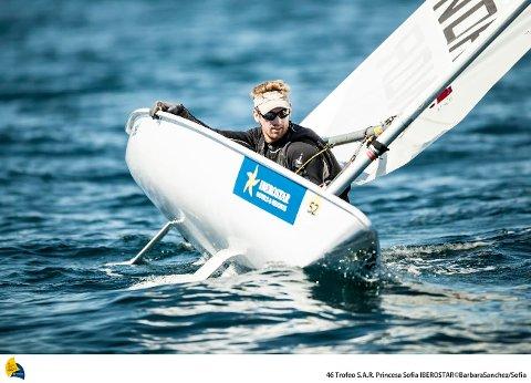 STERKT: Mathias Mollatt seilte sterkt gjennom hele uken.