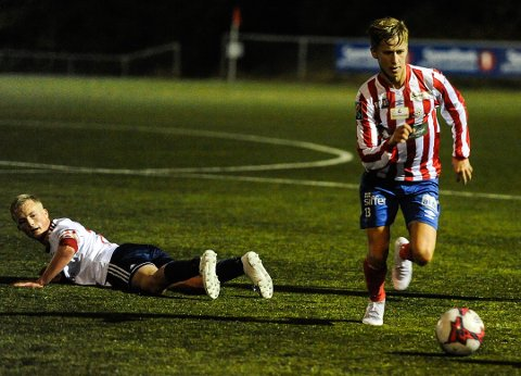 Marcus Moberg og Kvik Halden 2 vant 2-0 over Råde.
