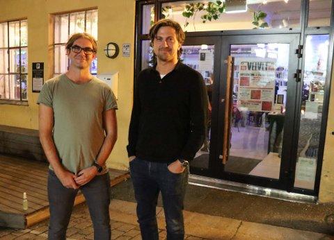 FESTIVALFLYTTING: Martin M. Sørhaug (t.v.) får med seg Rasmus Os og Fauna Eiendom som tilrettelegger og hovedsponsor når Lyse Netter flyttes til Møllebyen.