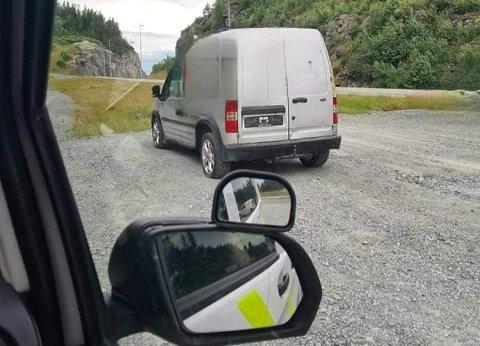 STANSET: Politiet reagerte på flere ting med denne bilen.