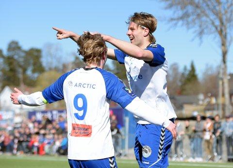 TO MÅL: Med to scoringer på to minutter var Markus Woldsund viktig i 3-2 seieren.