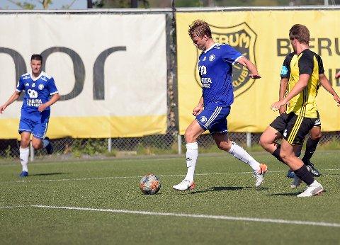 To-målsscorer: Sander Birkeland, som kom fra Kjelsås i sommer, reddet ett poeng for Oppsal. Her setter han inn 2-1 i andre omgang.