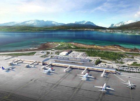 NYE BYGG: Slik ser Avinor sine planer for Tromsø Lufthavn ut fra utsiden.