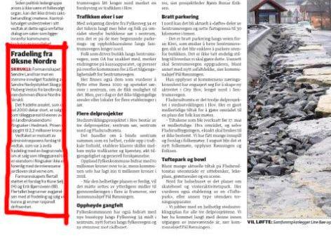 Fylkesmannen tok affære overfor et formannskapsvedtak i Søndre Land etter å ha lest denne notisen (innringet) i OA 23. mai i år.