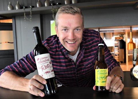MORSOMME DRÅPER: Paul Håvard Østby i Urbane Totninger er stolt over å servere Urbane Totninger-øl og -vin, og snart kommer det en hel serie med Urbane Totninger-øl.