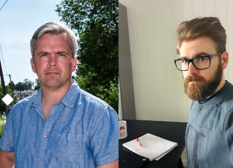 TOTEN: Toten-ordførerne Bror Helgestad (t.v.) og Stian Olafsen er glade for at politiet aksjonerer på mistanker om grov narkotikaovertredelse, selv om det skjer i deres hjemkommuner.