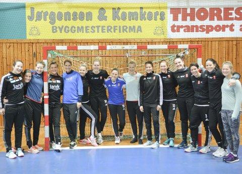 Vervekampanje: Innen utgangen av mars er målet at Larvik Håndballklubb har fått 1.000 nye medlemmer. Flere spillere er allerede godt i gang med vervingen som i første rekke vil ha stor symbolverdi.
