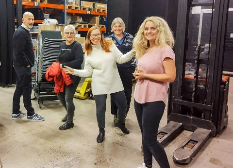 Improgruppa: Denne gjengen inviterer til detektivoperasjon på Bølgen mandag 30. september. F.v. Geir-Atle Johnsen, Mette Bamrud, Mari Ravler Johansen, Cathrine Nower Nyborg og Marte Haddal.