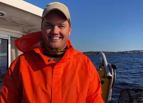 SPESIELL OPPLEVELSE: Thomas Løvald er en lidenskapelig fritidsfisker. Fredag fikk han en opplevelse han ikke har opplevd maken til.