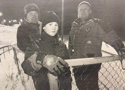 FORBANNET: Knut Naper, André Naper og Erik Hovet er forbannet etter at noen har stjålet drivverket til Urædd Skiklubbs ene skiheis.