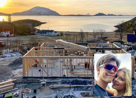 Matias Olsen (22) bygger nytt hus på Tonnes. Sammen med kjæresten Ane Meisfjord (19) viser de fram byggeprosessen på Instagram.