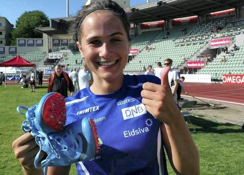 Rask: Sigrid Kongssund Amlie har startet sesongen svært bra. Torsdag får hun løpe 400 meter som forøvelse til Bislett Games.