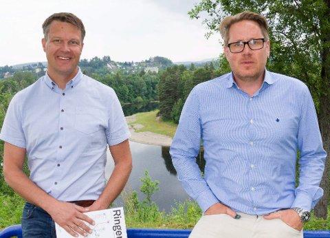 Advarer mot kutt: Steffen Fagerås (styreleder) og Jørgen Moe (daglig leder) i Ringerike utvikling.