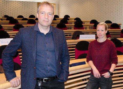DUO: Ordfører Morten Lafton og varaordfører Kristine Belsbye ser nå på muligheter for hvordan varaordfører kan få muligheter til å jobbe som varaordfører når det er behov for det.