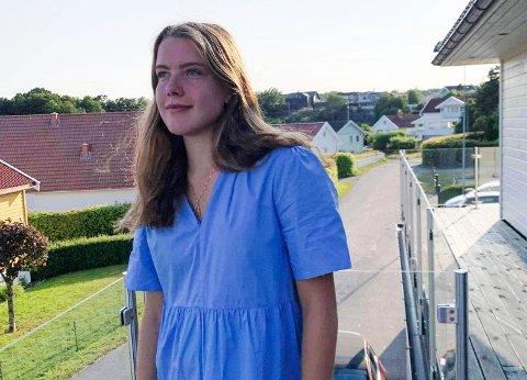 MÅLBEVISST: Ingrid Andreassen (18) var ferdig på videregående i våres. Nå er hun klar for å ta fatt på en master i rettsvitenskap, i kombinasjon med fotballsatsing. – Jeg er veldig motivert for dette, sier Sandefjord-jenta, som nylig flyttet til Bergen.