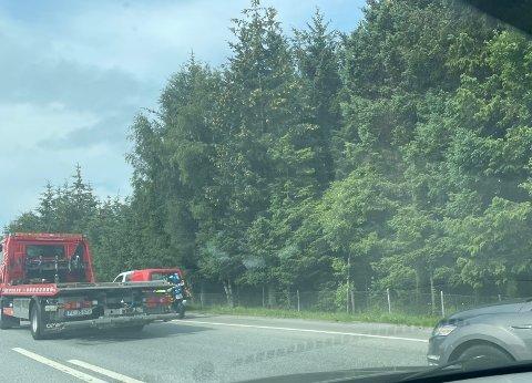 En bil ble stanset på E39.