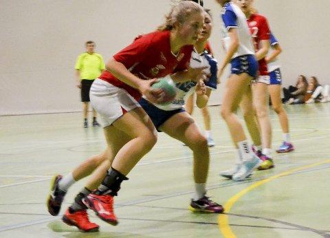Farlig skuddarm: Skiptvet-jenta Mari Nilsen Solberg scorer mye med sin venstrearm og er også tatt ut til landslagssamlingen.