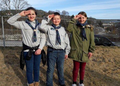 ALLTID BEREDT: Stifinnere fra Notodden speidergruppe i 2018.