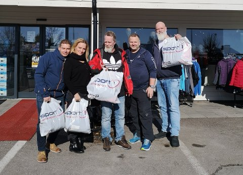 KLARE FOR BIRKEN: Freddy Larsen, Synne von Zernichow, Didric Johansen, Birger Almenning (sponsor) og Henrik Varild Larsen.