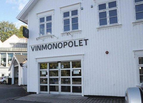 Vinmonopolet i Tvedestrand får snart ny butikksjef. Arkivfoto