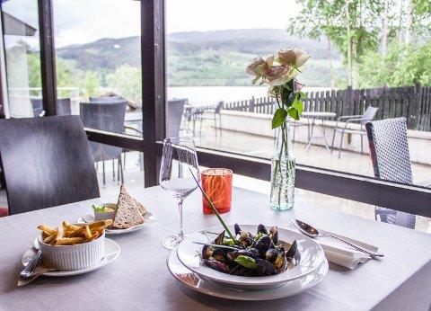 Utsikt: Med utsikt over Strandefjorden får du også servert vakker natur hos museumsrestauranten.