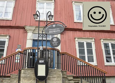 SMILEFJES: Vertshuset Røros fikk smilefjes etter at Mattilsynet var på besøk.