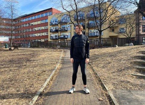 Joakim Marthinsen, opprinnelig fra Lillehammer, er nå bosatt på Torshov. Det kryr av gode løperuter i området.
