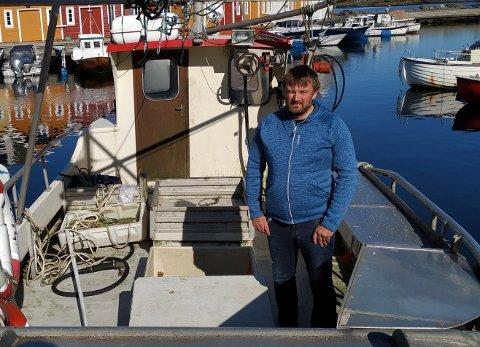 Fisker: Jarle Holgersen startet Skalldyr Kvitsøy i 2000. Nå er han på 20. årets som selvstendig næringsdrivende.