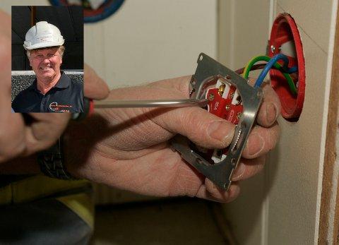 Selskapet Elektro-Installasjon Drammen AS har meldt oppbud. – Det er et stort nederlag og ikke noe vi ønsket, sier daglig leder Tom-Jarle Ellingsen (innfelt). Foto: Terje Bendiksby/Scanpix og Tore Shetelig