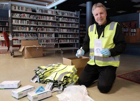 Jon Wold er ansvarlig for teamet som jobber med frivillige under koronakrisen i Øvre Eiker.