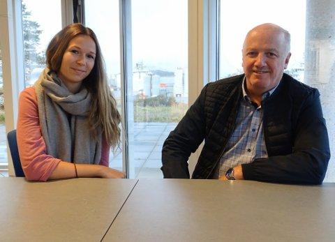 INC Hydrogenteam: Marita Jarstad og Svein Arne Bjørkedal i INC sitt hydrogenteam, forografert i 2019. Jarstad skal no leie eit nytt prosjekt, Oliven, for å jobbe med realisering av eit hydrogenanlegg.