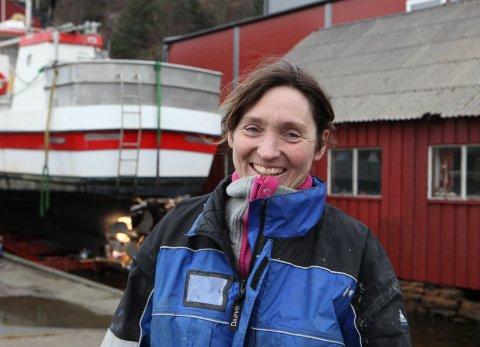 SJEF: Nina Seljestokken, dagleg leiar for Seljestokken Båtverkstad.