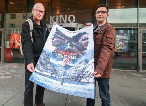 Deler historie: Trond Gaute Lockertsen (til venstre) og Pål-Helge Nilssen har begge familiemedlemmer som hjalp Jan Baalsrud å flykte – i det samme døgnet.