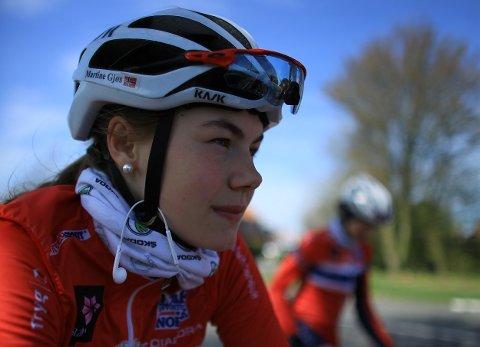 TIL BERGEN: Martine Gjøs fra Horten er klar for sykkel-VM i Bergen.