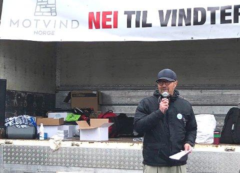 NEDSTEMT: Petter J. Holth, leder i Motvind Nord-Odal.