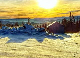 Det er vakkert i Vinter-Norge. Dette leserbildet er det Kristin Bergseng som har tatt i Gausdal Nordfjell. Send inn dine bilder med å merke dem #gdbilder i sosiale medier.