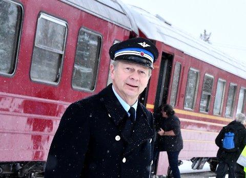 POSITIVE TIL REISELIVET: Terje Fossum som var NSBs markedssjef på Dovrebanen og Raumabanen har hatt møte med selskapet SJ Norge som overtar banestrekningene søndag den 7. juni.