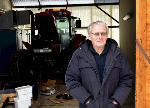 HAVARERT: Oddvar Røysis havarerte traktor står nå i en garasje på Hvalsmoen.
