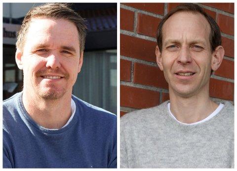 LEGER: Martin Eikrem (t.v.) og Jostein Helgeland.
