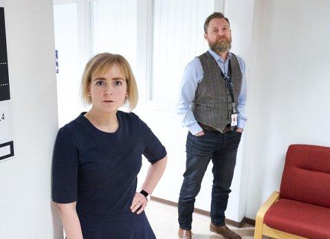 TAKKER: Ordfører Ida Stuberg og kommunedirektør Peter Ardon sender en takk til Inderøys innbyggere i en presset tid.