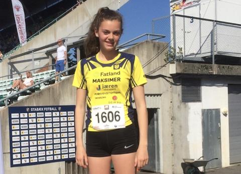 RASK: Bjørg Risa (14) fra Undheim tok en fin tredjeplass i et nasjonalt stevne i Bærum i helgen.