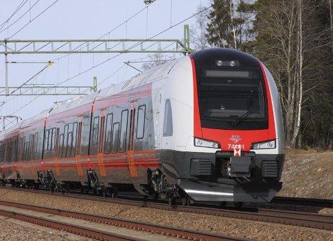 FLIRT: Det er tog av denne typen som etter planen skal settes inn på de nye direkterutene på Vestfoldbanen. Ifølge NSB har disse høy driftssikkerhet. Foto: NSB