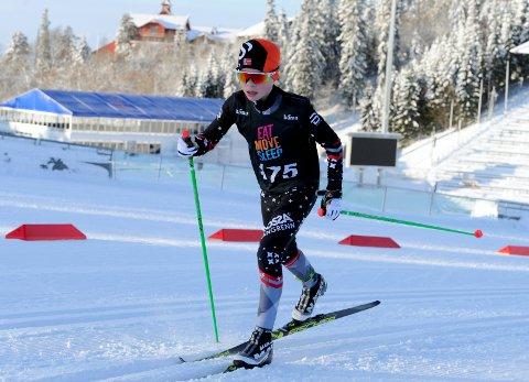 I TOPPEN: Marcus Enes Seberg imponerte då han vart nummer fem i Ungdommens Holmenkollrenn i helga.