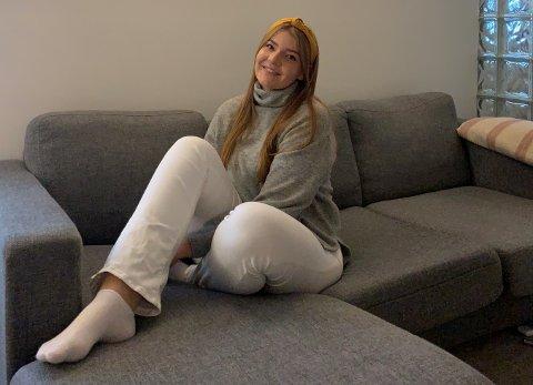 SYK: Elisabeth Holseth bor og studerer i Kongsberg. Som fireåring fikk hun diagnosen type 1 diabetes.