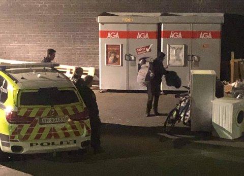 En av gangene politiet ble tilkalt etter at høytaleren fortsatte å snakke til folk som romstrerte på tomta en natt denne høsten.