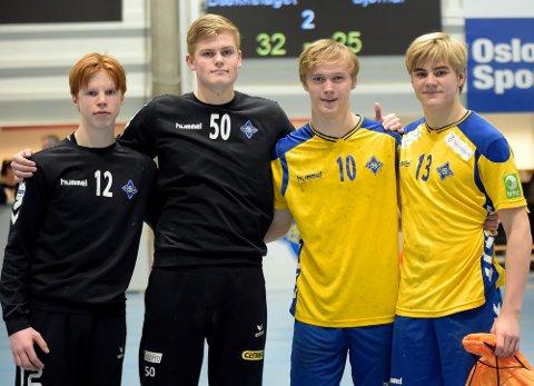 GÅR FOR GULL: BSKs Ulf Dorthellinger Nygaard, Hans Gran, Edward Kling og William Berget satser stort i Bringserien etter fire poeng av fire mulige i helgen.