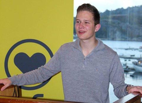 FORNØYD: Nikolai Berglund Skogan, fylkesleder i Troms KrFU, er veldig fornøyd med at det blir opprettet et Mobbeombud i løpet av 2016.